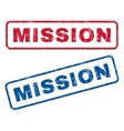 Mission Rubber Stamps vector image vector image