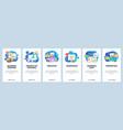 mobile app onboarding screens business plan vector image vector image