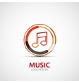 music company logo business symbol concept vector image