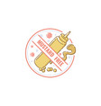 mustard free food label flat pastel icon for vector image vector image