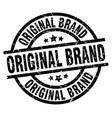 original brand round grunge black stamp vector image vector image