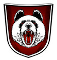 panda mascot emblem design with typography emblem vector image vector image