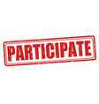 participate sign or stamp vector image