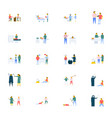 people icons pack in flat design vector image vector image