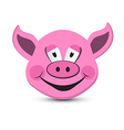 Pink Pig Head Isolated on White Background vector image vector image
