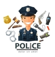 police logo design template policeman cop vector image vector image