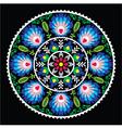 Polish traditional folk art pattern in circle vector image vector image