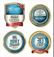 premium quality golden labels 3 vector image vector image