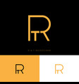 r and t monogram logo letters vector image