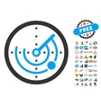 Radar Icon With 2017 Year Bonus Symbols vector image vector image