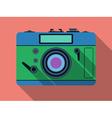 Retro photo camera vector image