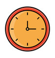 round clock time line and fill style icon vector image