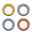 round grommets set vector image vector image