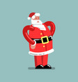 santa standing with hands on belt vector image vector image