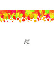 seamless border pattern of falling autumn leaves vector image vector image