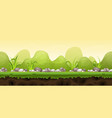 seamless green landscape for game ui vector image vector image