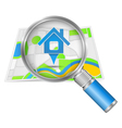 Search for house concept vector image vector image