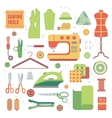 set accessories for sewing machines and vector image
