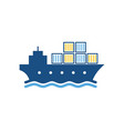 shipping logistic logo icon design vector image