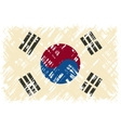 South Korean grunge flag vector image vector image