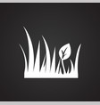spring grass on black background vector image