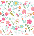 spring or summer flower blooming garden seamless vector image