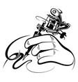 tattoo artist vector image