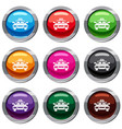 taxi car set 9 collection vector image vector image