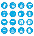 tea and coffee icon blue vector image vector image