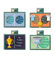 tennis sport equipment set icons vector image