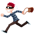 thief running vector image