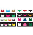 top and shorts set vector image vector image