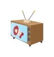 TV icon cartoon style on white vector image