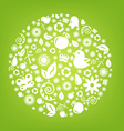 Various Ecology Icons vector image vector image