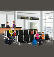 waiting in airport vector image