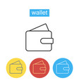 wallet line icon vector image