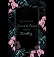 wedding tropical invitation floral invite card de vector image vector image