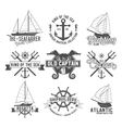 Yacht club badges logos and labels vector image vector image