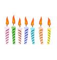 set birthday candles vector image