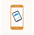 Smartphone mobile phone isolated vector image