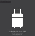 travel bag premium icon white on dark background vector image
