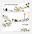 abstract horizontal banners with black and gold vector image vector image