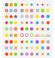 Abstract primitive color figures collection vector image vector image