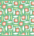 abstract shapes seamless retro pattern vector image vector image