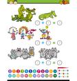 addition task for preschool kids vector image vector image