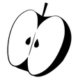Apple Cut Icon vector image vector image