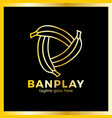 banana play logo vector image