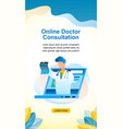 banner online doctor consultation vector image vector image