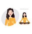 beautiful young woman relax and enjoy vector image vector image