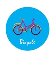 Bicycle flat icon in round shape vector image vector image